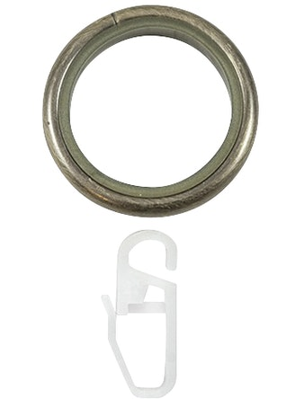 Кольцо D20 Ост с крючком 10 шт бронза