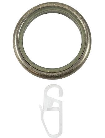 Кольцо D25 Ост с крючком 10 шт бронза