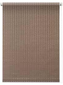 Штора 7704 Рулонная 080х175 Плаза коричневый