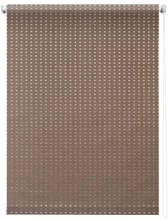 Штора 7704 Рулонная 050х175 Плаза коричневый