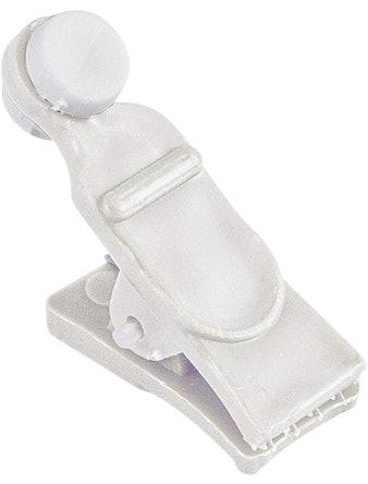 Зажим-ролик для пластмассовой шины белый упаковка 20 шт