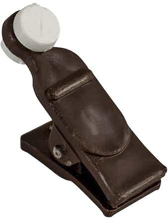 Зажим-ролик Коричневый пластмассовый упаковка 20 шт