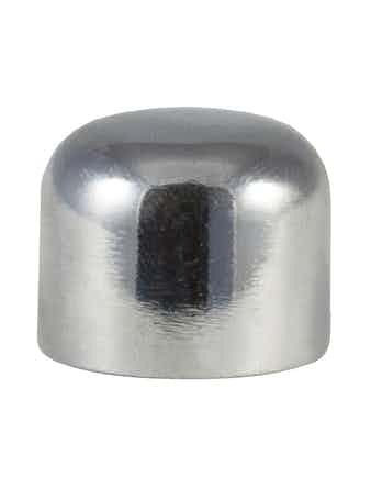 Наконечник-заглушка D16 Ост, хром, 2 шт.