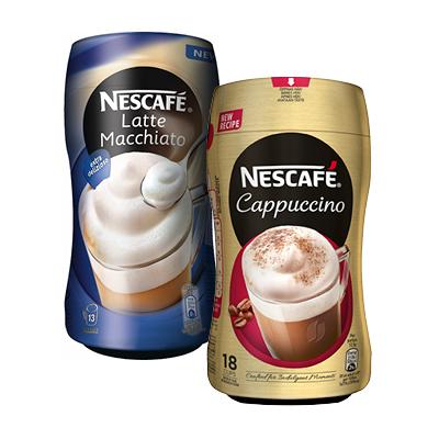 NESCAFE PIkakahvit Cappucino tai Latte macchiato 225 g
