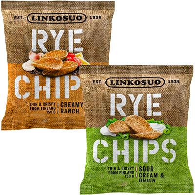 LINKOSUO Rye chips 150 g