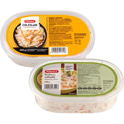 Pirkka Majoneesisalaatit 400 g ja coleslaw 300 g