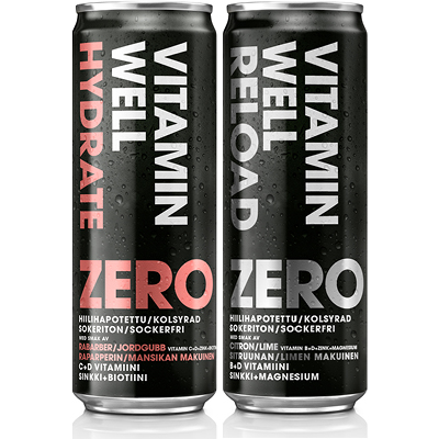 VITAMIN WELL Zero juomat 0,355 l