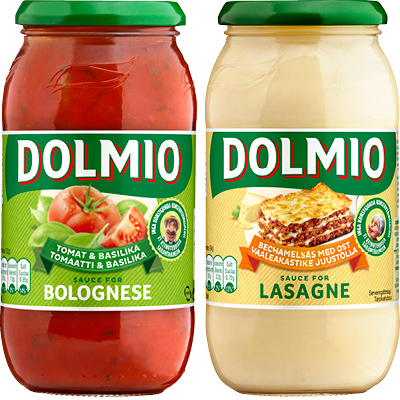 DOLMIO Pastakastikkeet 470-500 g