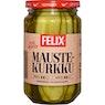 FELIX Pitkittäin viipaloitu voileipäkurkku 460/230 g, pitkittäin viipaloitu maustekurkku 460/240 g tai Amerikkalainen pitkittäin viipaloitu
