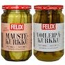 FELIX Pitkittäin viipaloitu voileipäkurkku 460/230 g, pitkittäin viipaloitu maustekurkku 460/240 g tai Amerikkalainen pitkittäi n viipaloitu voileipäkurkku 460/240 g