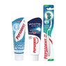 PEPSODENT Long Active ja White System hammastahnat 75 ml sekä Super Clean hammasharjat