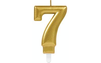 Numerokynttilä 7 kulta