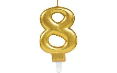 Numerokynttilä 8 kulta