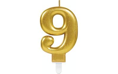 Numerokynttilä 9 kulta