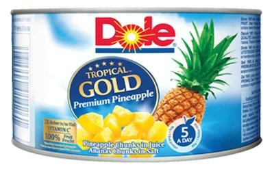 Dole Tropical Gold Ananas pikkupaloja ananasmehussa 227 g/139 g