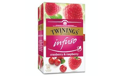 Twinings 20x2g Infuso cranberry raspberry tee