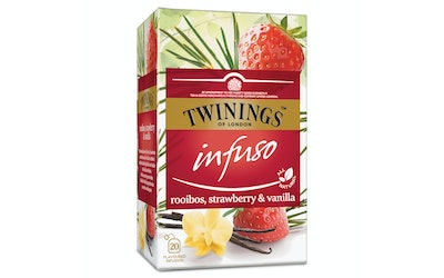 Twinings 20x2g Infuso Rooibos Strawberry Vanilla