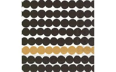 Marimekko liina 25cm 20kpl Räsymatto musta-kulta