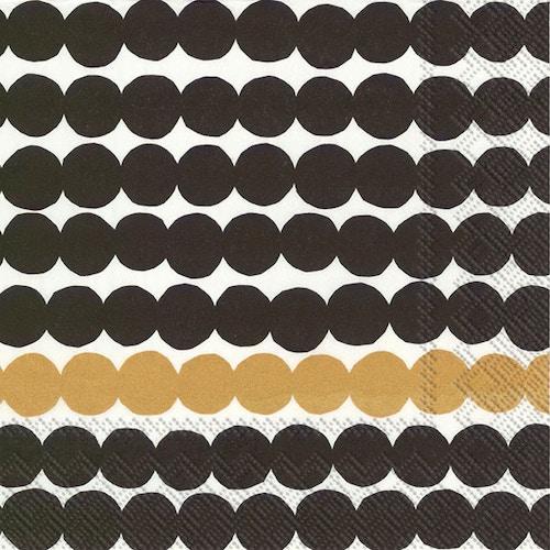 Marimekko liina 25cm 20kpl Räsymatto musta-kulta – K-Ruoka