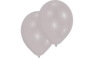 Metallinhohtohopea ilmapallo 10kpl 28cm