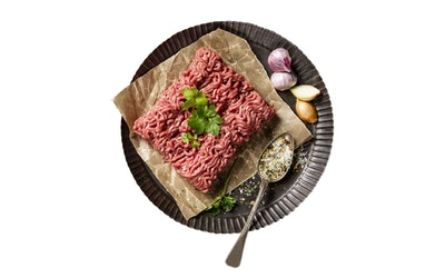 Meillä jauhettu Naudan paistijauheliha (rasvaa alle 7%)