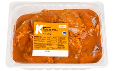 K-Menu marinoitu broilerin uunipala n. 1,5kg