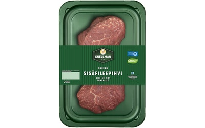 Snellman naudan sisäfileepihvi 2 kpl/n. 300 g