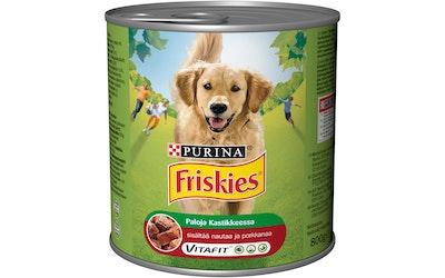 Friskies Naudanlihaa ja Porkkanaa Kastikkessa 800g koiranruoka