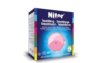 Nitor tekstiiliväri 175 g roosa 3031