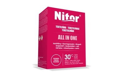 Nitor tekstiiliväri All in one 230g fuchsia