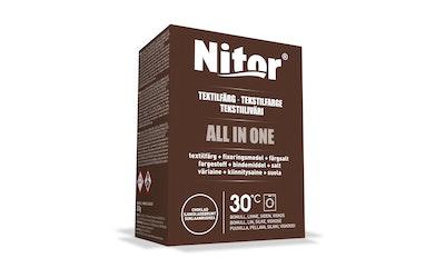 Nitor tekstiiliväri All in one 230g ruskea