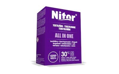 Nitor tekstiiliväri All in one 230g violetti