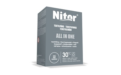 Nitor tekstiiliväri All in one 230g harmaa