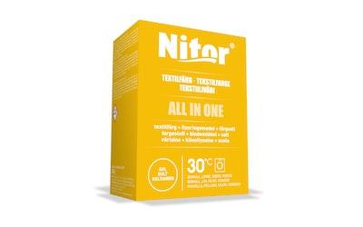 Nitor tekstiiliväri All in one 230g keltainen