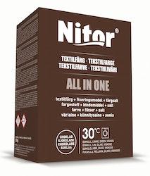 Nitor tekstiiliväri All-in1 350g suklaa