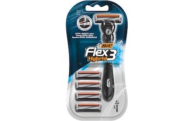 Bic Flex 3 Hybrid varsi ja 4 kpl teriä