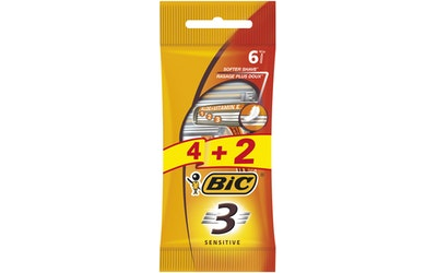 BIC 3 Sensitive varsiterä 4+2 kpl