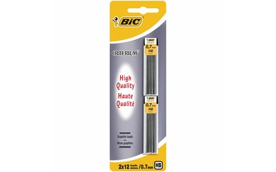 BIC irtolyijy 0,7 mm HB 2 x 12 kpl