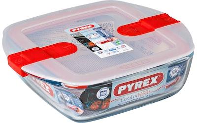 Pyrex Cook Heat lasivuoka 20 x 17 cm kannella