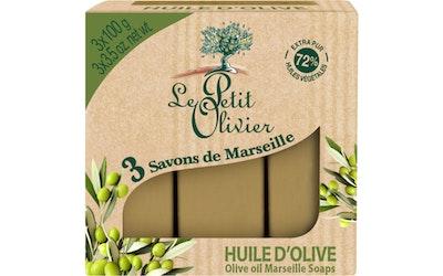 Le Petit Olivier palasaippua 3x100g oliivi
