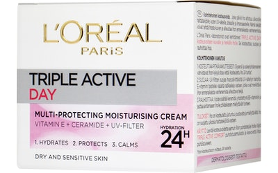 Loreal Triple Active päivävoide 50ml kui