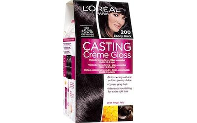 Loreal Casting Creme Gloss kevytväri 200 Ebony Black musta