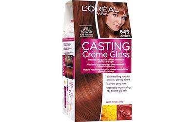 L'Oréal Paris Casting Crème Gloss 645 Amber Tummanvaalea Kupari Mahonki
