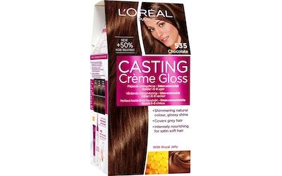 L'Oréal Paris Casting Crème Gloss 535 Chocolate Vaaleanruskea Kulta Mahonki
