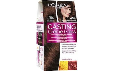 L'Oréal Paris Casting Créme Gloss kevytväri 454 Chocolate Brownie Keskiruskea Mahonki Kupari