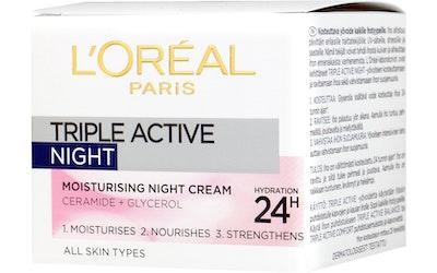 L'Oréal Paris Triple Active kosteuttava yövoide 50ml