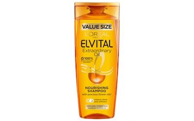 Loreal Paris Elvital shampoo 400ml Extraordinary Oil normaaleille ja kuiville hiuksille