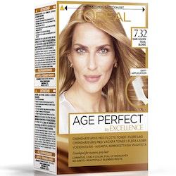 L'Oréal Paris Age Perfect by Excellence kestoväri 7.32 Dark Golden Pearl Blonde Tummanvaalea helmiäi