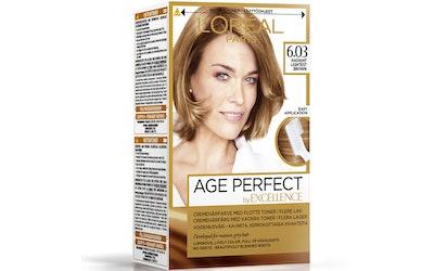 L'Oréal Paris Age Perfect by Excellence kestoväri 6.03 Radiant Lightest Brown Lämmin vaaleanruskea