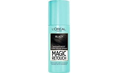 L'Oréal Paris Magic Retouch 75ml Black Suihkutettava Tyvisävyte